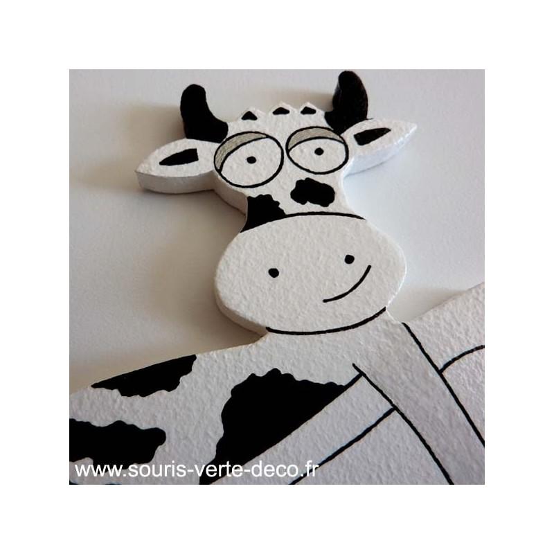 Plaque de porte de salles de bains humoristique vache for Plaque de porte humoristique