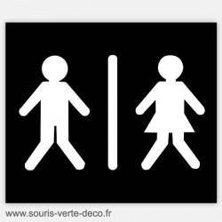 Plaque de porte de toilettes humoristique bonhommes pressés, personnalisable