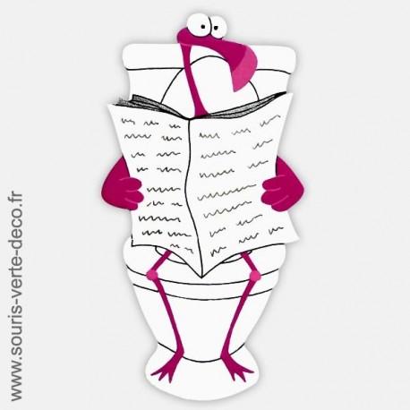 Plaque de porte de toilettes humoristique Flamant rose, personnalisable