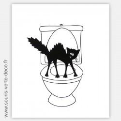 Plaque de porte de toilettes humoristique chat hérissé, personnalisable