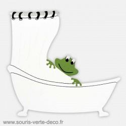 Plaque de porte salle de bains humoristique Grenouille