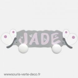 Portemanteau prénom et papillons pour chambre d'enfant, personnalisable
